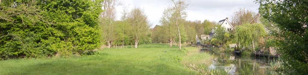 Hier grenst het natuurgebied aan de achtertuinen
